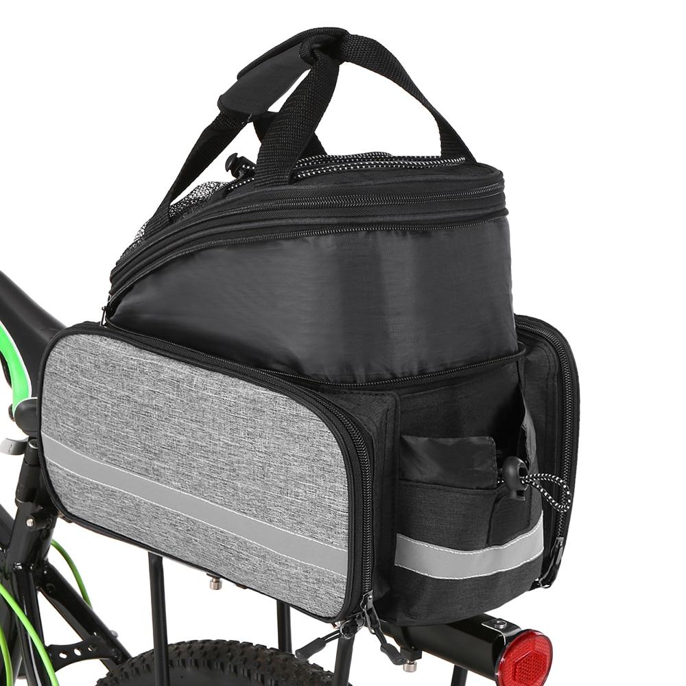 Assento Traseiro da bicicleta Saco Multifunction Expansível Saco Pannier Bicicleta Saco de Rack de Bicicleta BTT À Prova D Água Com Capa de Chuva Saco Sela