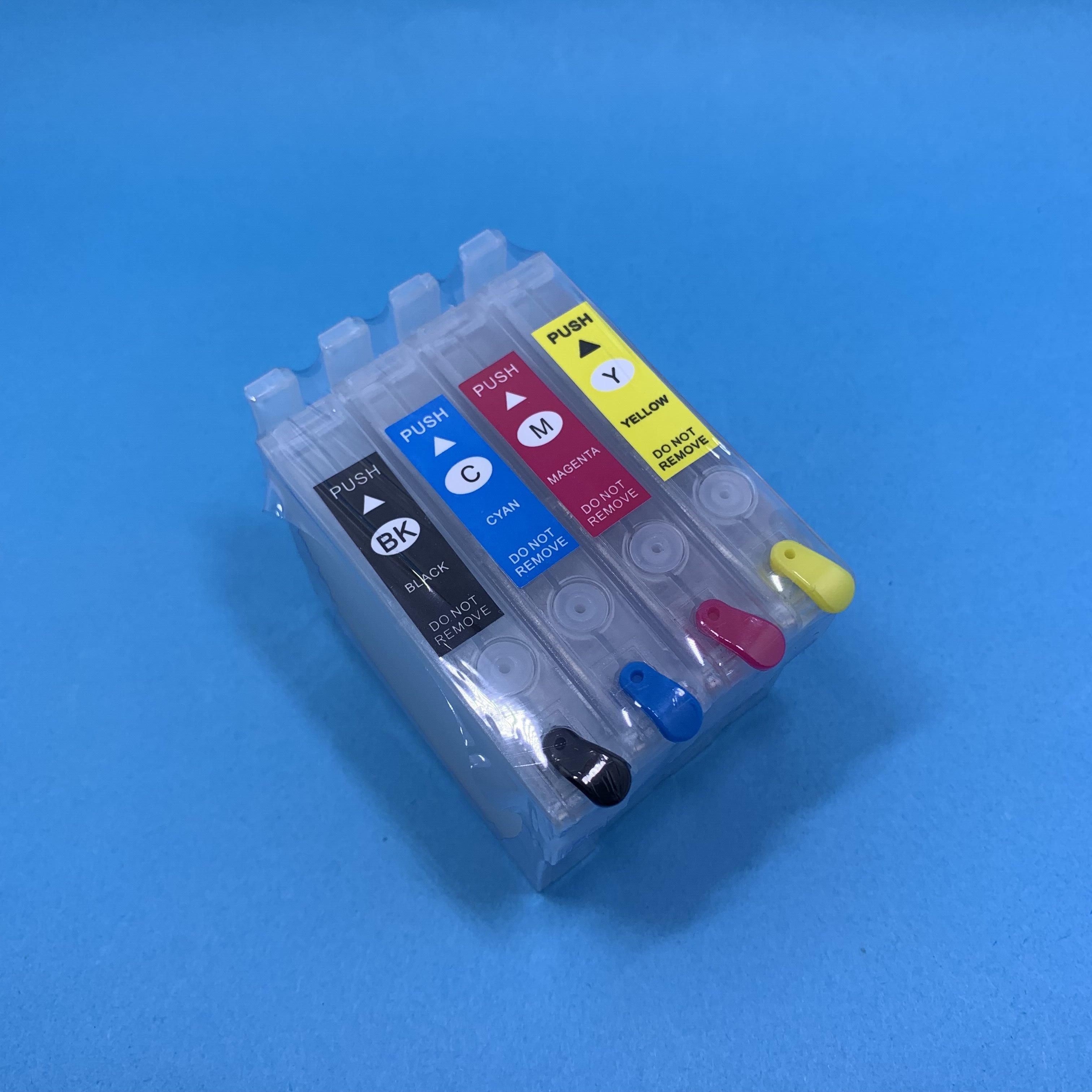 YOTAT пустой многоразовый чернильный картридж T1411 T1412 T1413 T1414 для Epson WorkForce WF-3521/Office 535 ME Office 570W 85ND 82WD