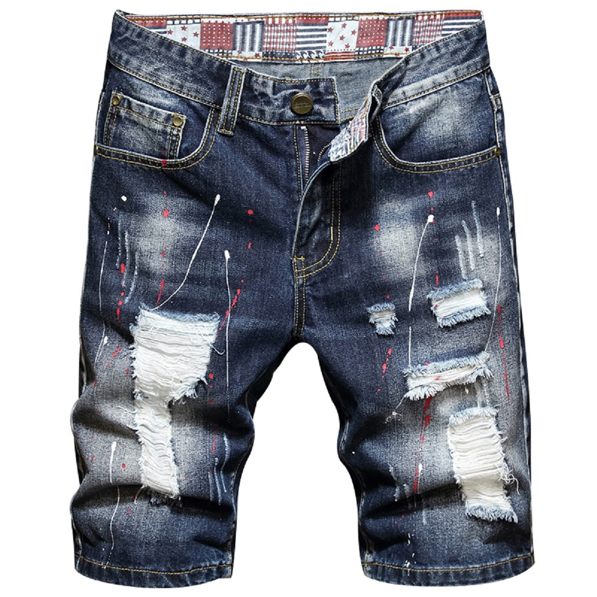 2021 Mens Ripped Short Jeans Clothing Bermuda Cotton Shorts Breathable Denim Shorts Male New Fashion Size 28-40