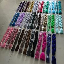 Accesorios para el cabello trenzados de 24 pulgadas, 105 colores, ombré, Jumbo, Afro corto preestirado, extensión por mayor