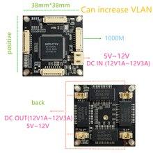 10/100/1000M 4 port gigabit Ethernet switch pcba for embedded integrated module DC 5V 12V1A-3A IN DC OUT VLAN Through current