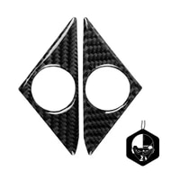 door speaker trim universal colorfast carbon fiber decorative door audio sticker for nissan gtr r35 2008 2016 car accessories
