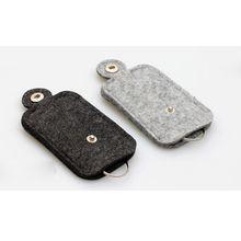 Luxury Car Key Wallet Purse Men Women Woolen Felt Keychain Holder Pocket Keys Organizer Convenient