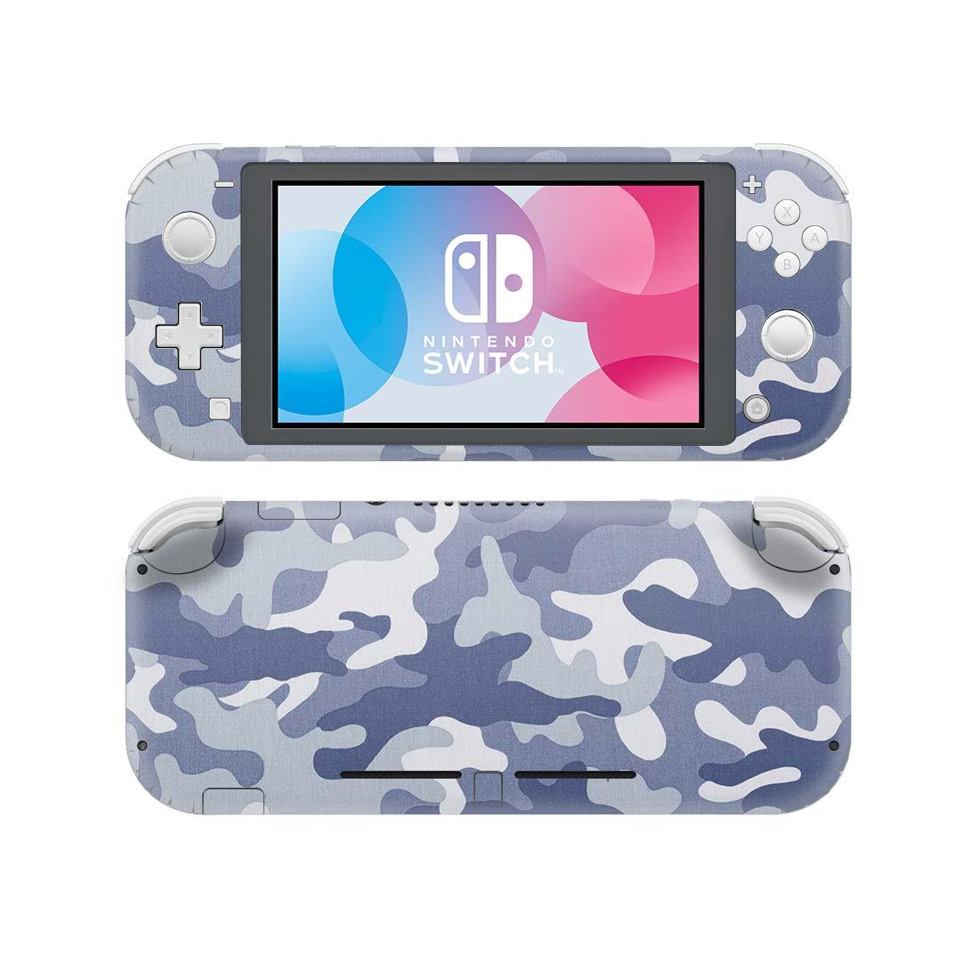 Pegatina de piel de vinilo estilo Camo azul para Nintendo Switch Lite NSL película protectora Decal pieles cubierta
