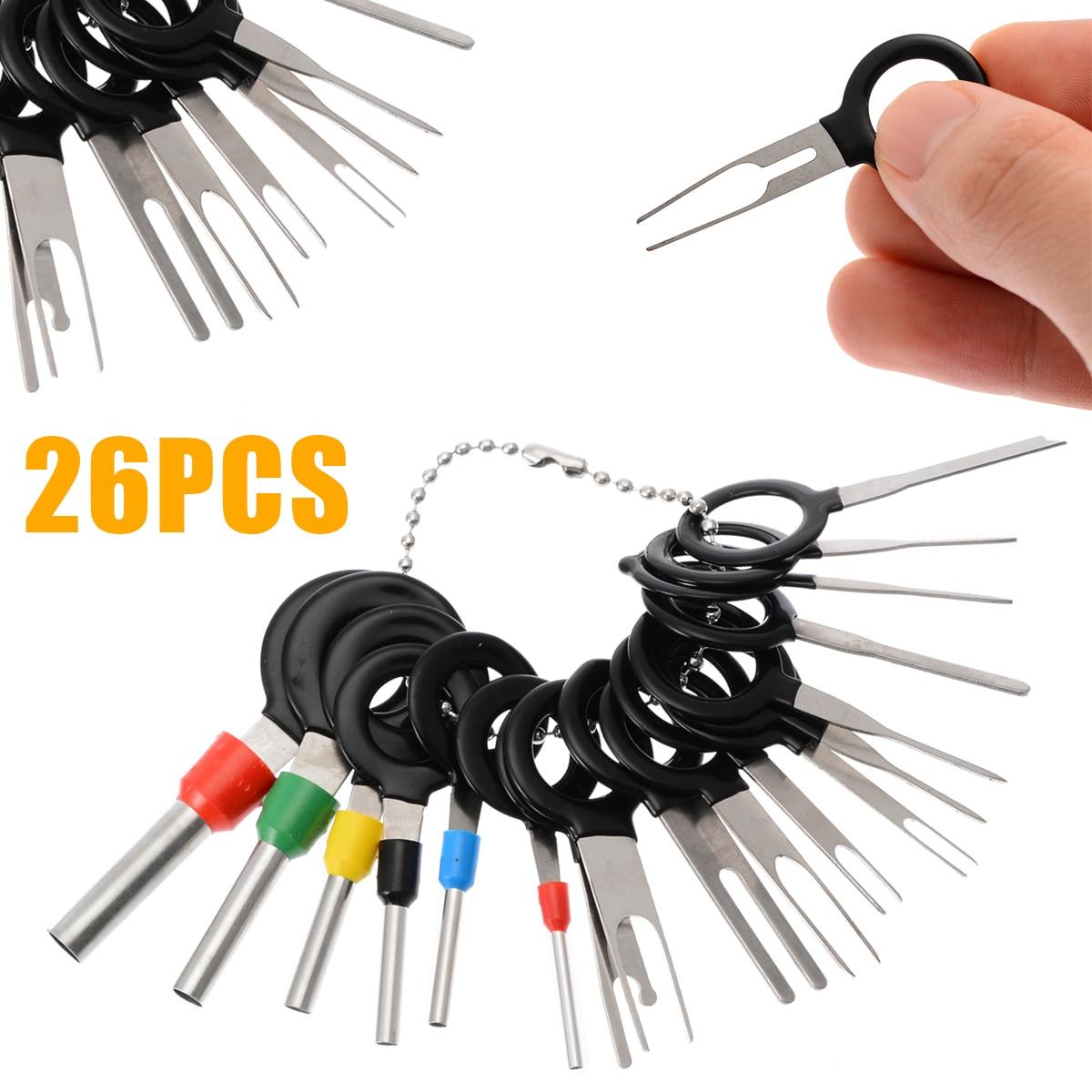26 Uds coche Terminal de eliminación eléctrica pinza de presión para cables...