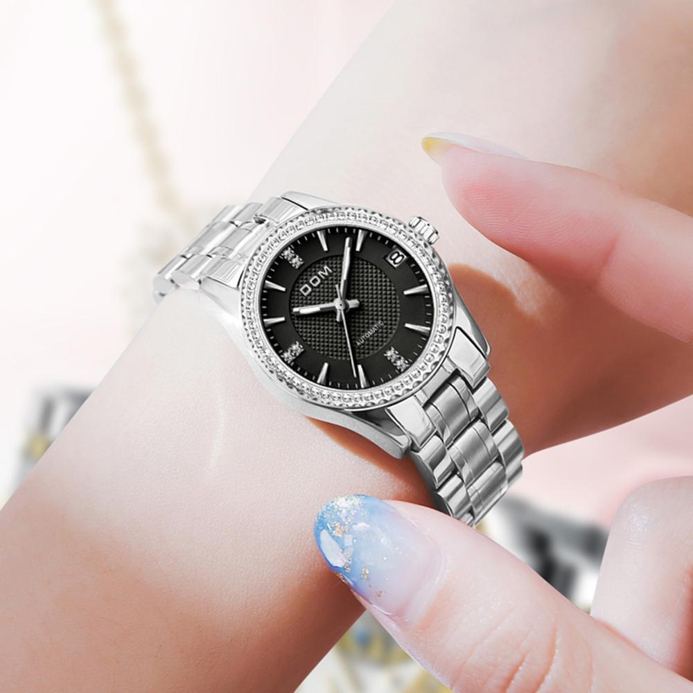 DOM automatic mechanical watchfashion men's watch luminous  couple watch business waterproof stainless steel female watch sports enlarge