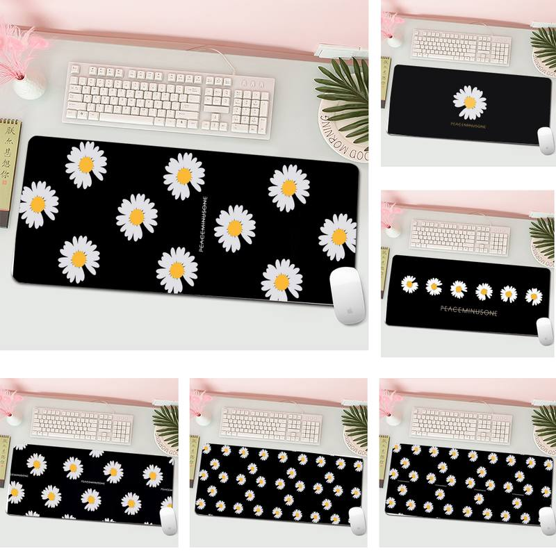 Small daisy flower Comfort Mouse Mat Gaming Mousepad L Large Gamer Keyboard PC Desk Mat Computer Tablet Gaming Mouse Pad