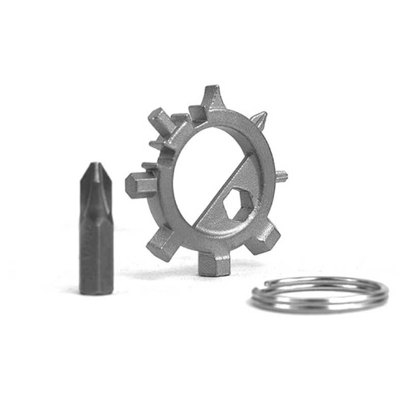 Outdoor portable gadgets Octopus bike multifunctional repair tool 12 functional use screwdriver key ring