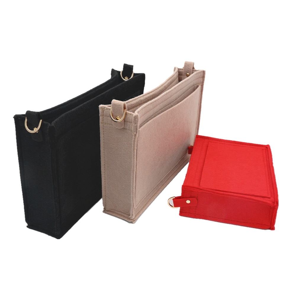 For Toiletry Pouch 19 26 Bag Purse Insert Organizer with D ring Toiletry bag 26 luxury organizer with Chain Makeup Bag Insert