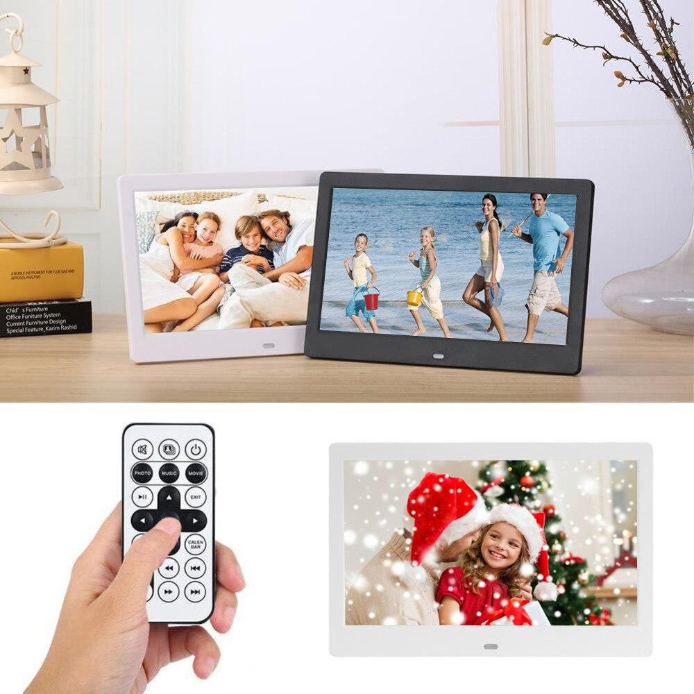 Marco de fotos Digital de 10,1 pulgadas retroiluminación LED HD 1024*600 álbum electrónico foto música película buen regalo para la familia de los Amigos