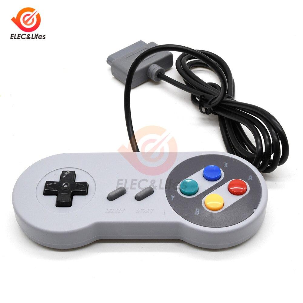 Controlador de juego con cable Universal de 16 bits, Mando de juegos USB clásico, Mando de juegos, Joysticks vídeo de PC, controlador de juegos para Nintendo SNES