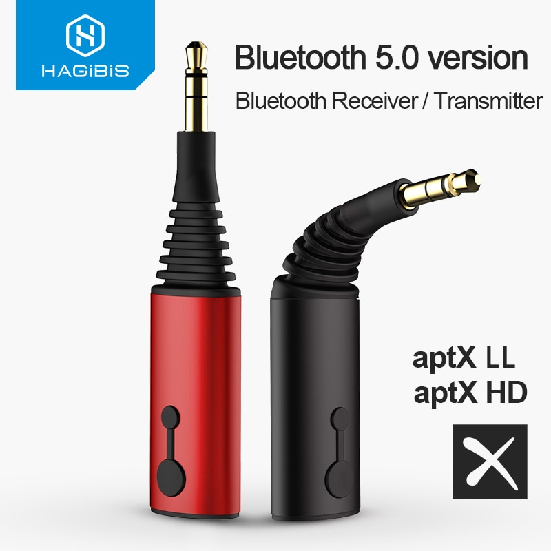 Transmisor receptor Bluetooth habilis 3,5mm aptX LL 2 en 1 Adaptador de música Bluetooth 5,0 para auriculares altavoz inalámbrico Audio de TV