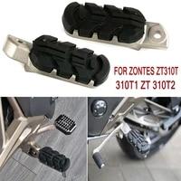 zontes zt310t 310t1 zt 310t2 front rear footrest motorcycle footrest foot pegs for zontes zt 310t 310 t1 zt 310 t2
