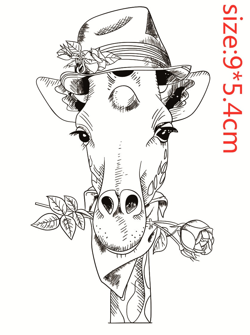 9x6 girafa animal transparente silicone carimbo de borracha e metal morrer folha adere scrapbooking diy bonito padrão álbum de fotos selo