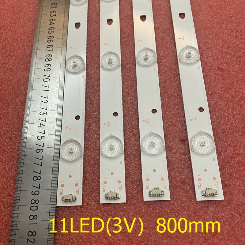 4 قطعة 11LED LED شريط إضاءة خلفي ل MTV-4128LTA2 LT-40C540 LSC400HN01 LT-40E71 (أ) LED40D11-ZC14-03(B) LED40D11-01(A) 30340011206