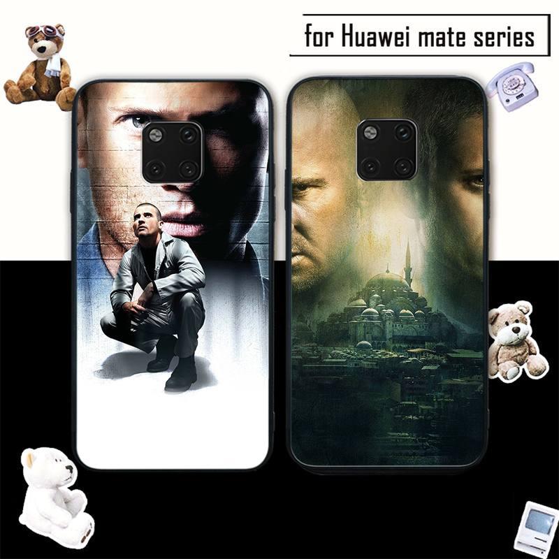 Prison Break funda de teléfono suave negro para Huawei mate 9 10 20 30 lite 9 10 20 30 pro 20X coque