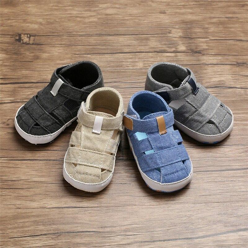 Summer Newborn Baby Boy Girl Soft Sole Crib Shoes Sneaker Prewalker Bebe Casual Anti Slip Shoes