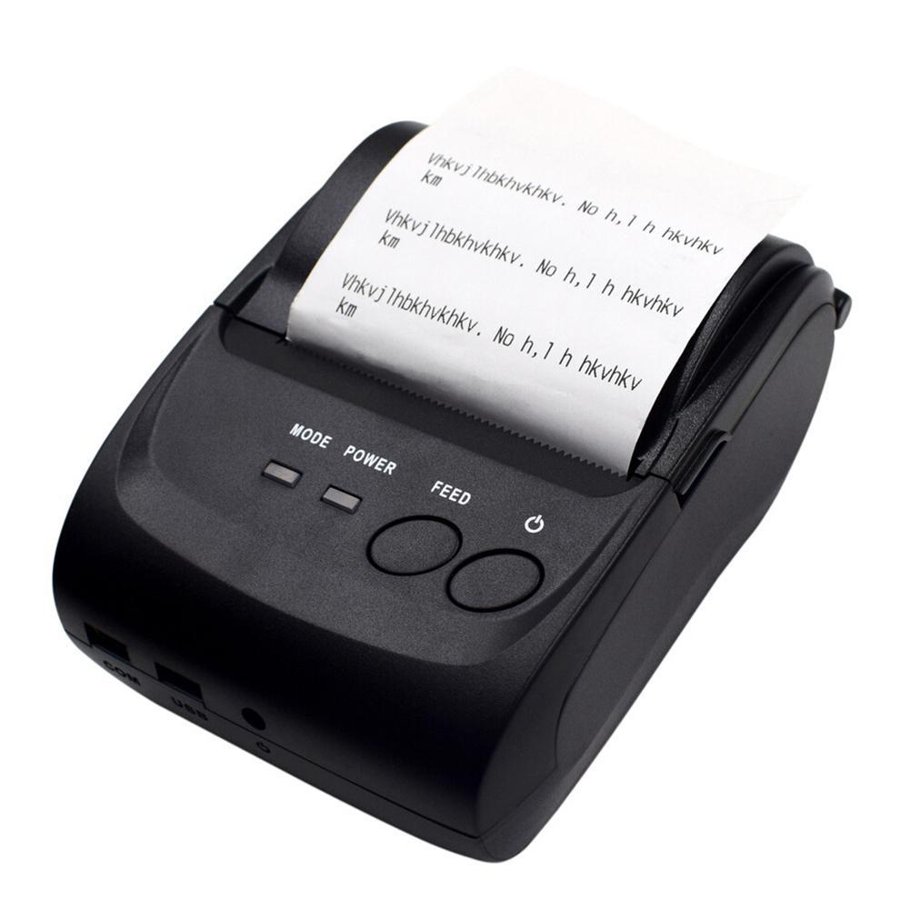 POS-5802DD Mini portátil Bluetooth impresora de recibos térmicos
