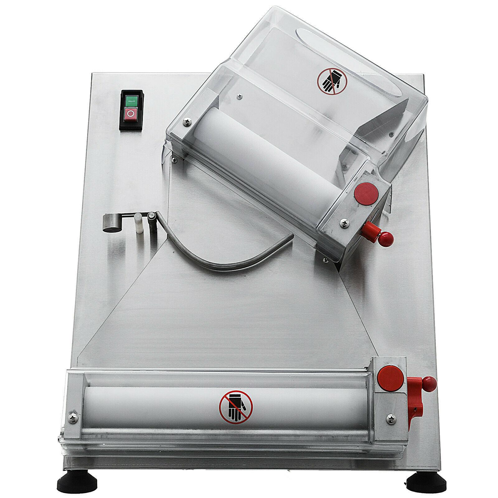 Laminadora de masa eléctrica de acero inoxidable con rodillo de masa de Pizza 110V