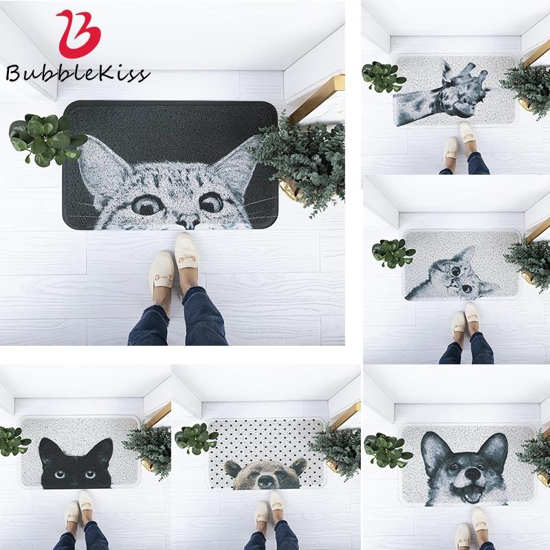 Burbuja beso gatos Puerta de plástico PVC diseño de suelo de moda puerta alfombras abajo alfombra de piso antideslizante esteras de las alfombras de cocina limpia esteras