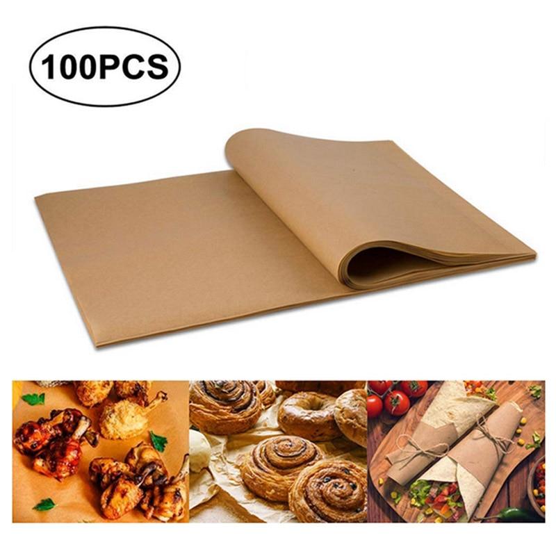 100 PCS Parchment Paper Sheets Precut Unbleached Baking Paper Non-Stick Cookie Sheet Paper --M25