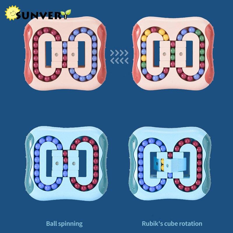 2021 Infinity Cube Magic Fidget toys Bean 3D Magnetic Puzzle Children Tangle Fidget Race Cube creative Educational Brain Toys enlarge
