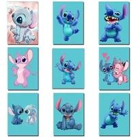 disney diy mickey diamond painting cartoon stitch drill rhinestone cross stitch kits handmade embroider crafts for child