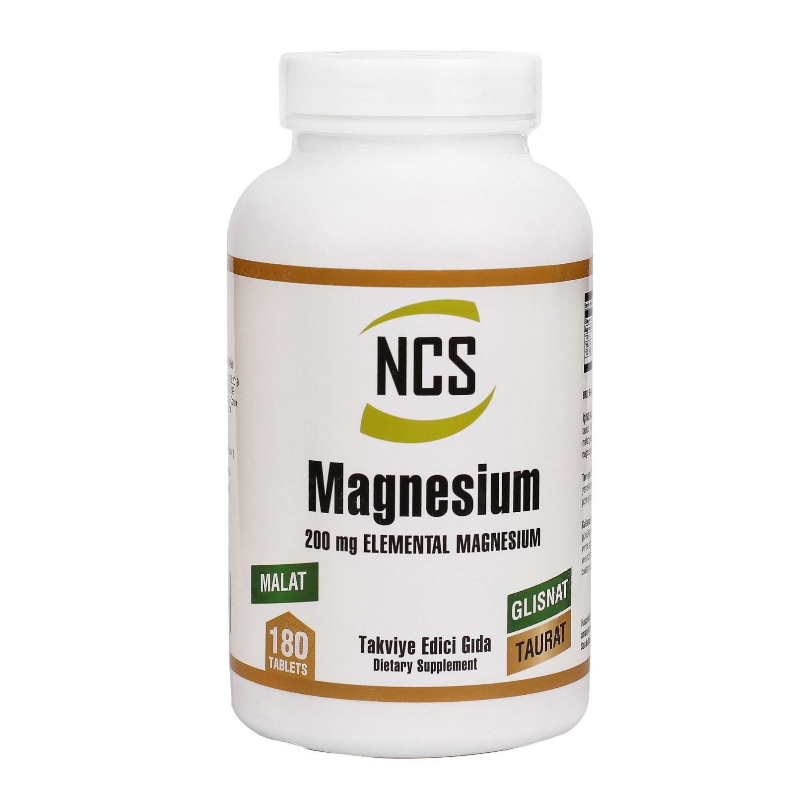 Ncs malato de magnesio Glisinat Torá 180 Tablet
