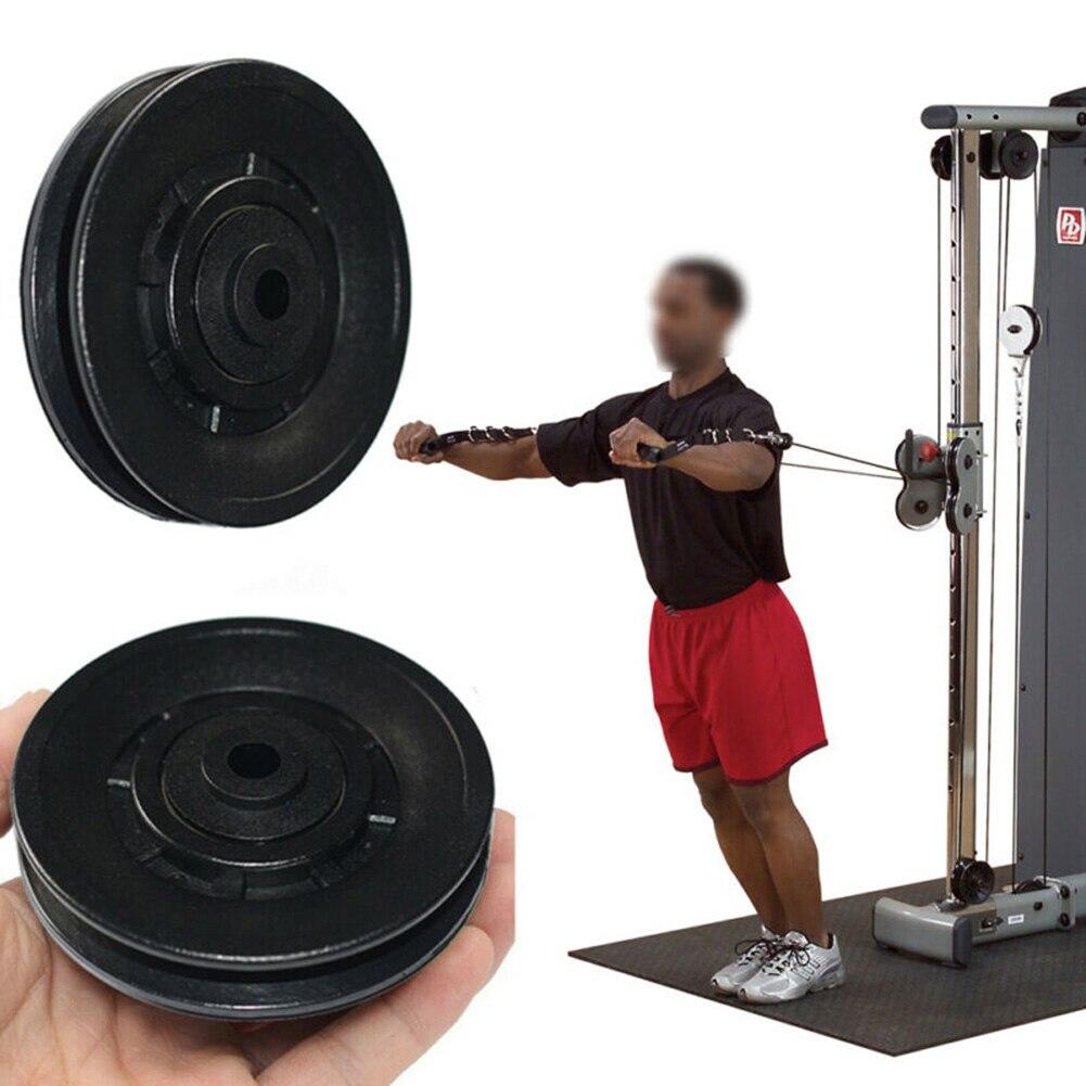 Cabo universal de polia da roda de rolamento, peça de equipamento de ginástica de alta qualidade prático e durável, 1 peça/4 peças