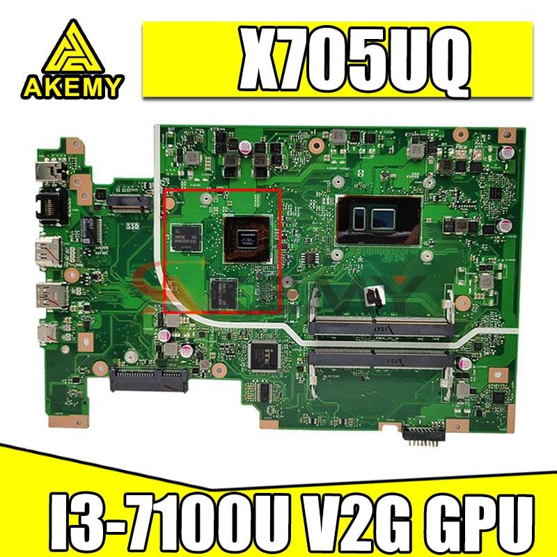 X705UQ MB I3-7100U V2G GPU اللوحة ل ASUS X705UVR X705UV X705UB X705UD X705UDR X705UN X705U اللوحة المحمول
