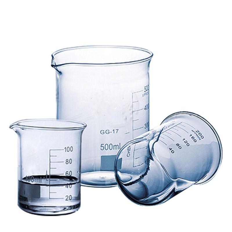 Лабораторный стакан 5 мл-2000 мл, низкая форма, боросиликатный мерный стакан Boro 3,3, стеклянный стакан, утолщенный, бесплатная доставка