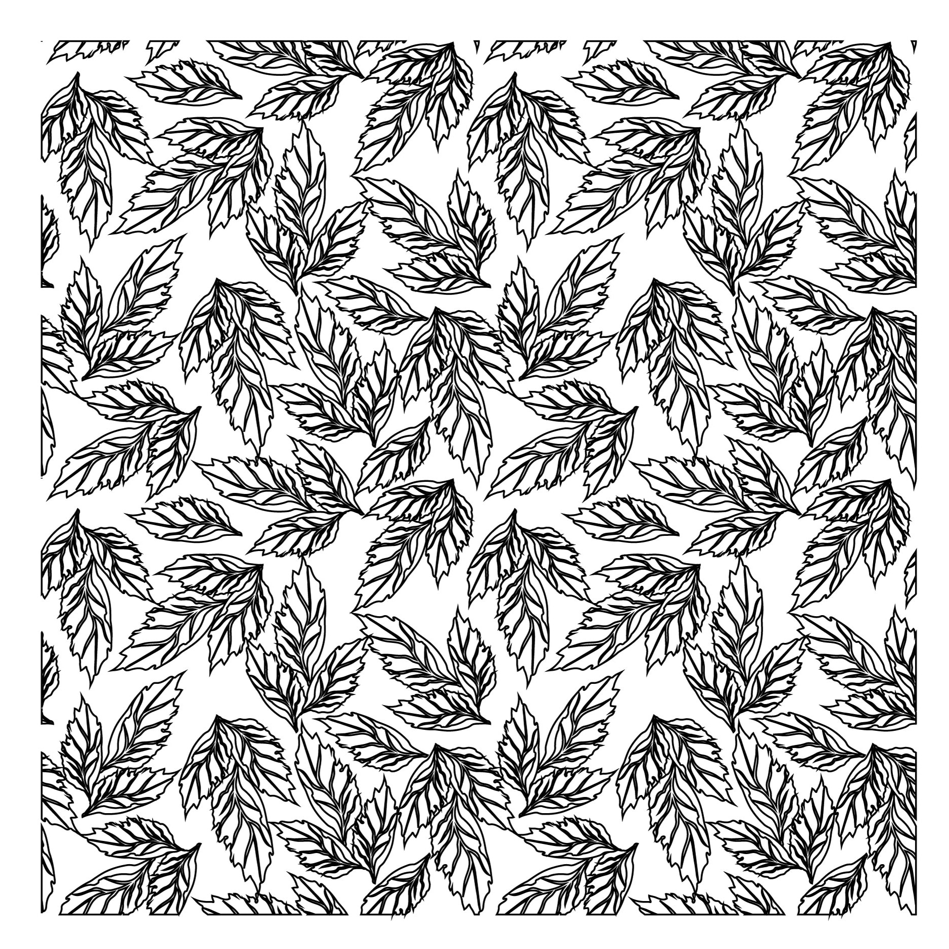 ZhuoAng Dense Leaves Background Clear Stamps For DIY Scrapbooking/Card Making/Album Decorative Silicon Stamp Crafts