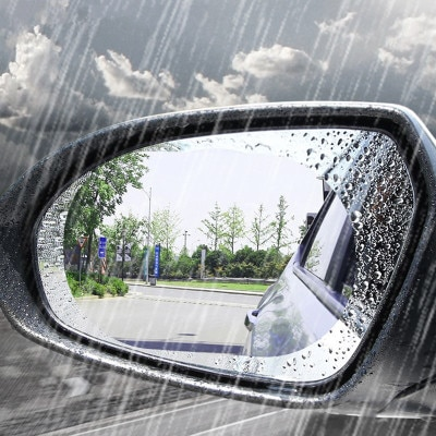 2 шт./компл. Анти-Туман Пленка Наклейки на зеркало заднего вида автомобиля с защитой от дождя и непромокаемые автозапчасти toyota hilux