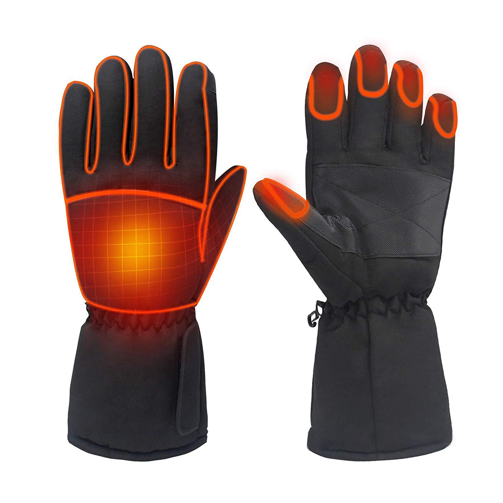 savior heating gloves thickened battery heating warm outdoor gloves motorcycle gloves shatter resistant gloves shell Motorcycle Heating Gloves Winter Touch Screen Winter Warm Skiing Gloves Waterproof Heating Thermal Gloves For Snowmobile