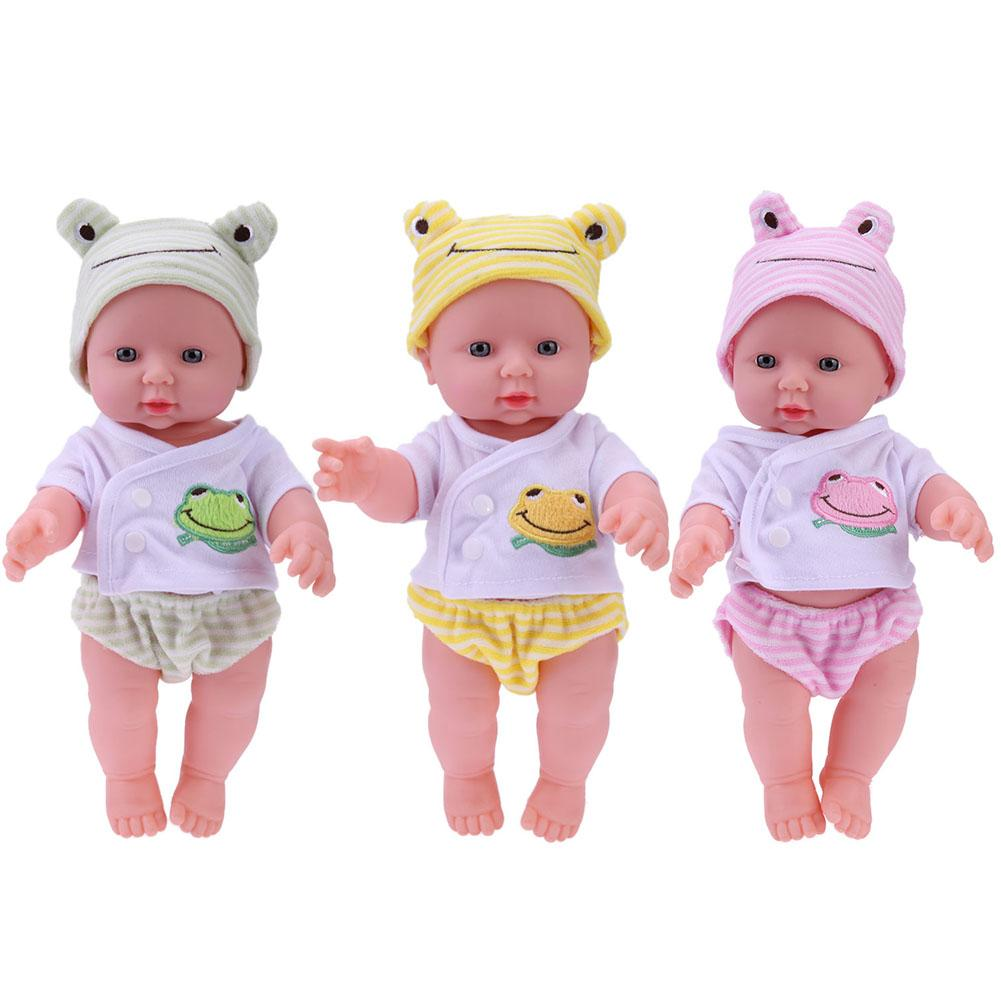 Baby Emulated Doll Soft Children Reborn Baby Doll Toys Boys Girls Birthday Gifts Kawaii Infant Accom