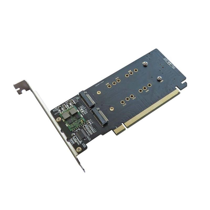 مهايئ من Pci Express 3.0 X16 إلى 4 مهايئ M.2 بطاقة الغارة دعم بطاقة الناهض Vroc 2230 2242 2260 2280 متر. 2 Nvme Ahci Ssd للكمبيوتر
