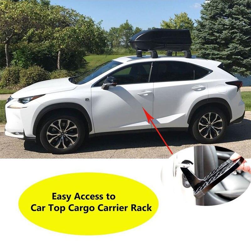 دواسة سيارة ألومنيوم قابلة للطي ، سلم سيارة عالمي ، دواسات مسند قدم مساعدة مع مطرقة أمان لسيارات SUV SRV JEEP