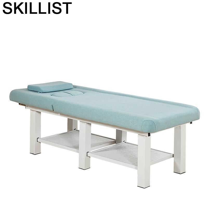 Tidur-Cama De Masaje Plegable para salón, asiento De Silla Masajeadora Plegable