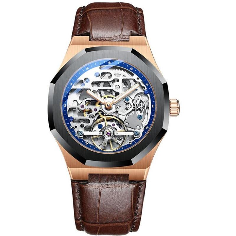 AliExpress - 2021 NEW Men Automatic Mechanical Watch Skeleton Vintage Man Waterproof 30M Mens Watches Top Brand Luxury Clock