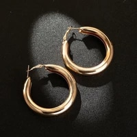large gold hoop earrings korean fashion earrings for women 2020 simple exaggerated thick round earrings earring luxury jewelry