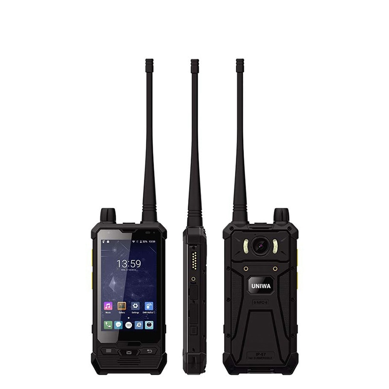 4 Inch P1 4G LTE Mobile Phone Glove Touch IP67 Waterproof POC Walkie Talkie 5W UHF/DMR 3+32GB Cellphone NFC Smartphone