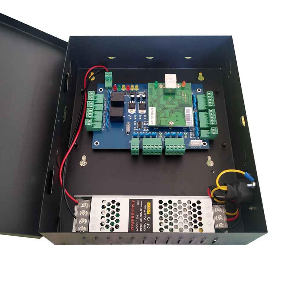 TCP dos control de acceso de puerta de dos vías de acceso de la puerta de 10A de gran potencia de suministro para dos soporte de la puerta QR lector de RFID snL02