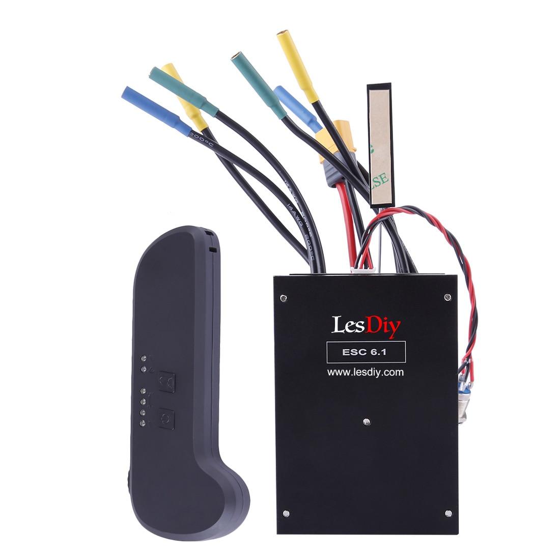 Hohe Qualität Elektrische Roller ESC6.1 Dual Stick ESC 100A 8-60V 3 S-12 S Batterie für 4-rad Elektrische Roller Skateboard