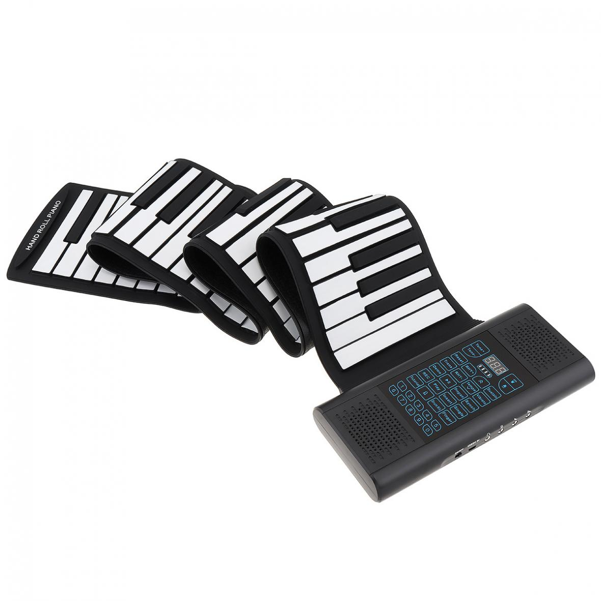 88 Keys Roll Up Electronic Piano  Rechargeable Silicone Flexible Keyboard Organ Built-in 2 Speakers + MIDI Bluetooth-compatible enlarge