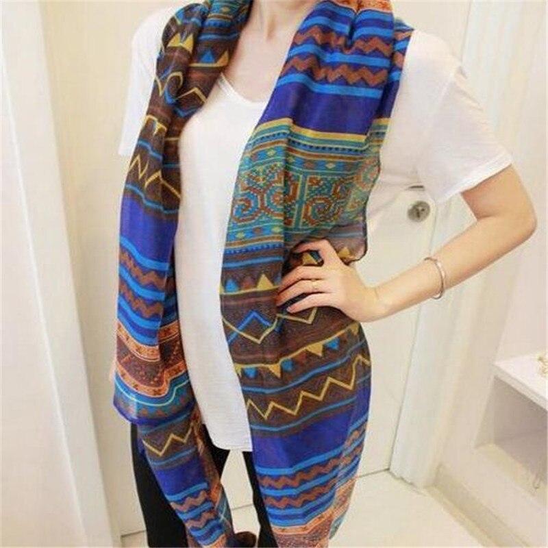 Nuevas bufandas de Bohemio de moda a la moda, bufanda larga impresa para mujer, chal para mujer, chal para niña, pañuelo bonito grande, estilos Tole 0624