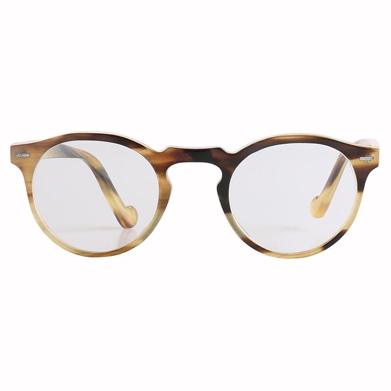نظارة شمسية يابانية بيضاوية دائرية ، صناعة يدوية ، عين القط ، قرن سلحفاة ملون ، إطار ، وجه صغير ورقيق
