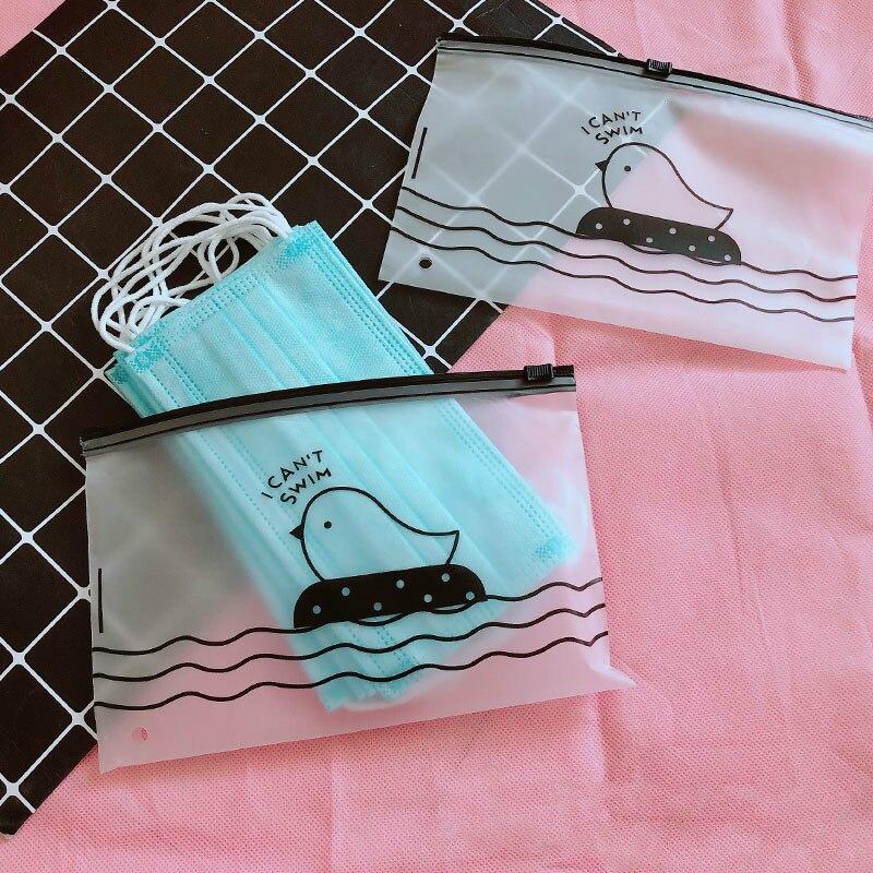 Сумка для масок пластиковая с мультяшным рисунком, Пыленепроницаемая прозрачная сумка для хранения, для дома и офиса, путешествий printio сумка с абстрактным рисунком