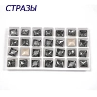 ctpa3bi crystal black light diamond color square pointback sew on rhinestones with claws glass sewing rhinestone for garments