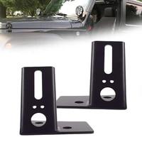 1pair offroad led driving work spotlight bracket windshield hinge corner mounting bracket holder for jeep wrangler jk 2007 2018