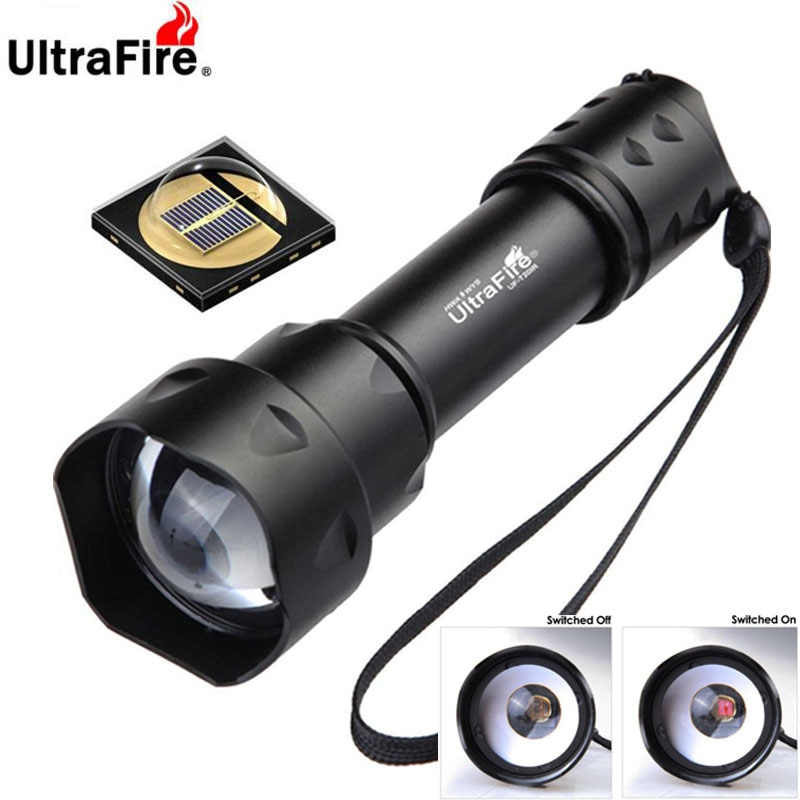 UltraFire T20 10W IR Flashlight 850nm 940nm Night Vision Zoomable Torch LED Infrared Flashlight Tactical Hunting Flashlight
